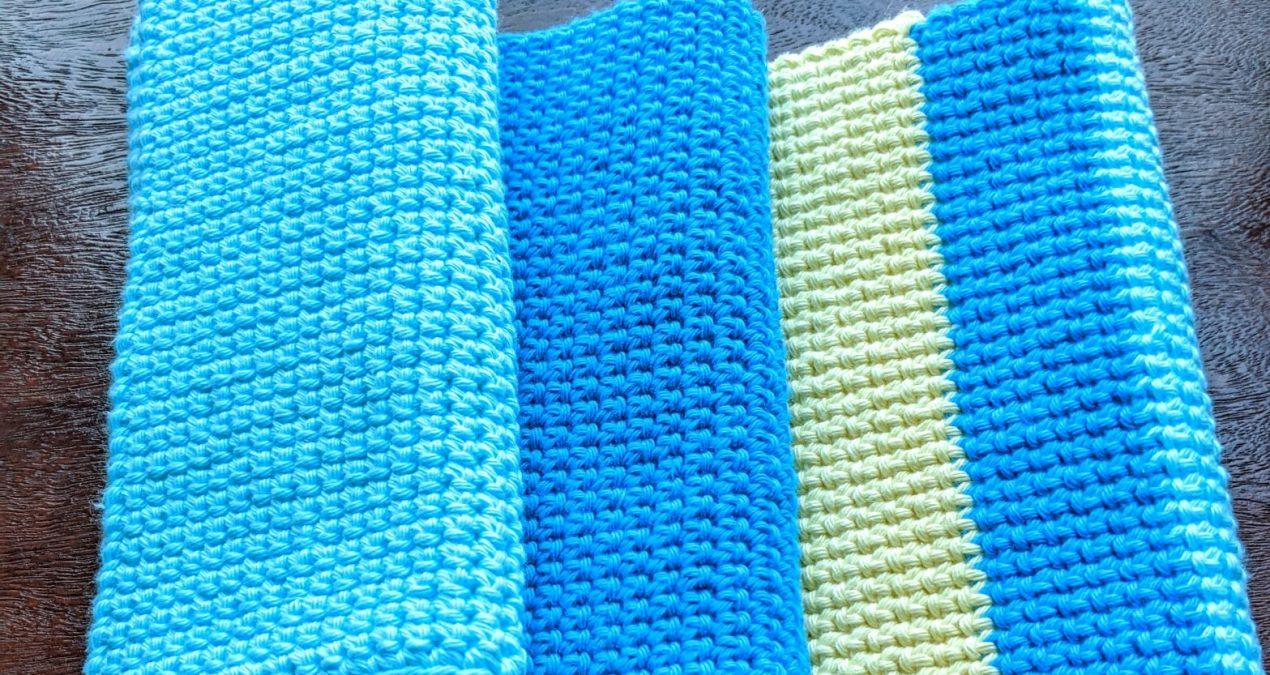 Crochet thick potholder – single crochet thermal stitch