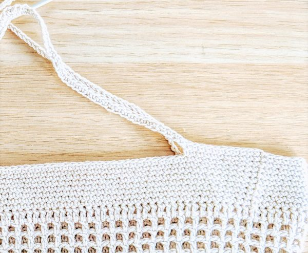 crochet market bag handle