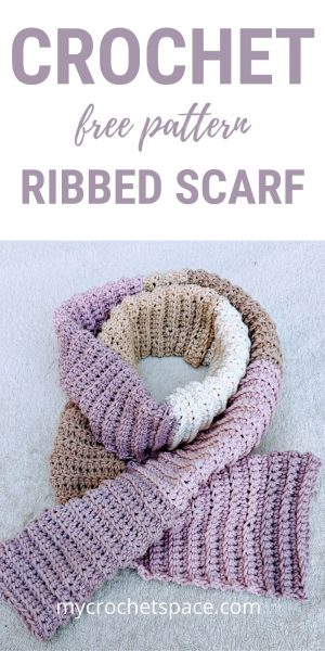 Crochet scarf, easy pattern
