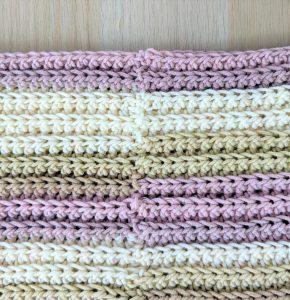 crochet scarf seam