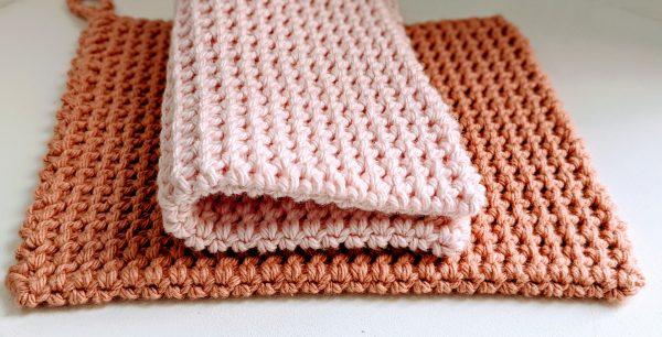 crochet extra thick potholder. Deluxe potholder, unique, double thick crochet.