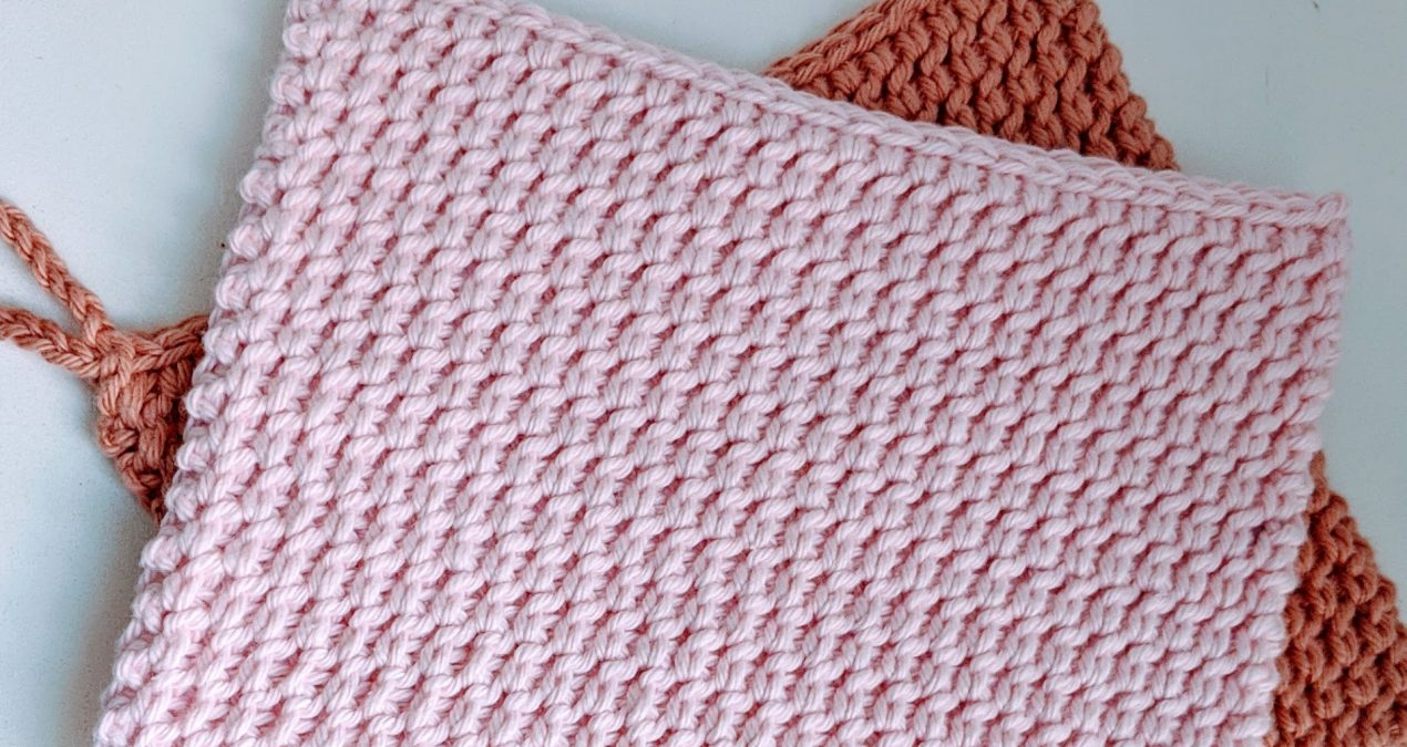 Extra Thick Potholder – half double crochet thermal stitch
