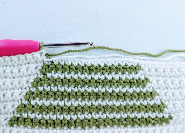 crochet christmas tree wrong side