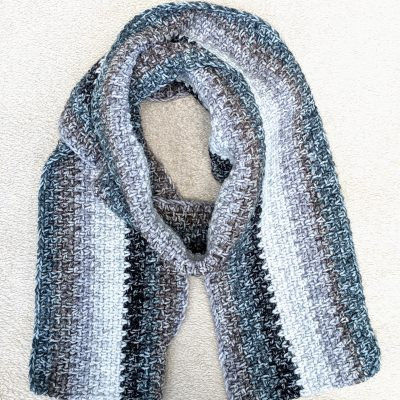 crochet men's scarf
