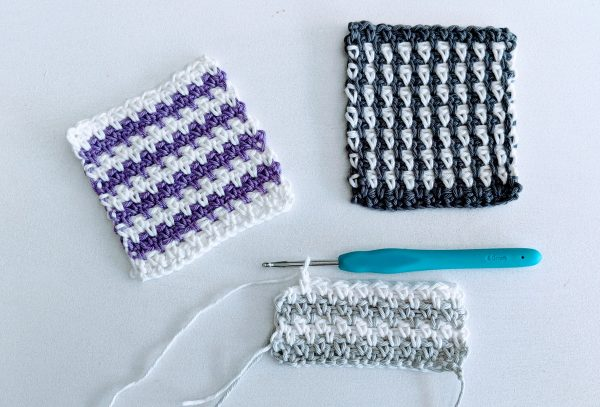 moss stitch crochet colour samples