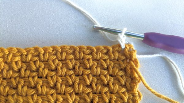 single crochet with white colour