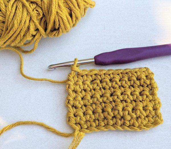 Single crochet stitch example