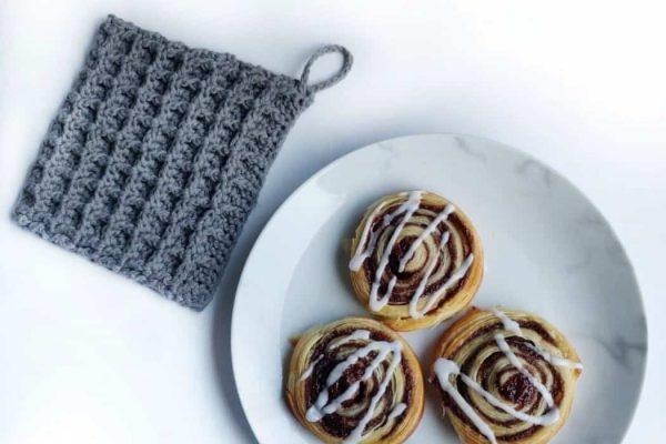 waffle crochet potholder