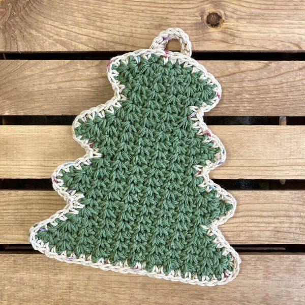 green tree potholder
