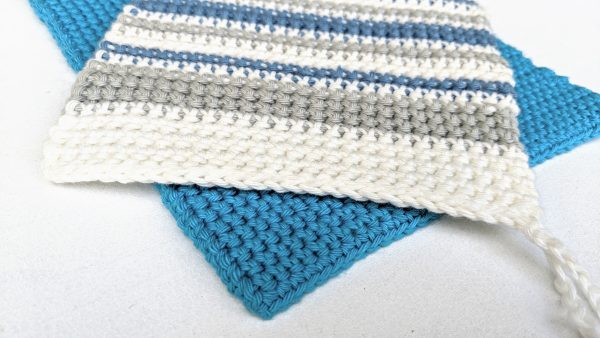 potholders with stripes