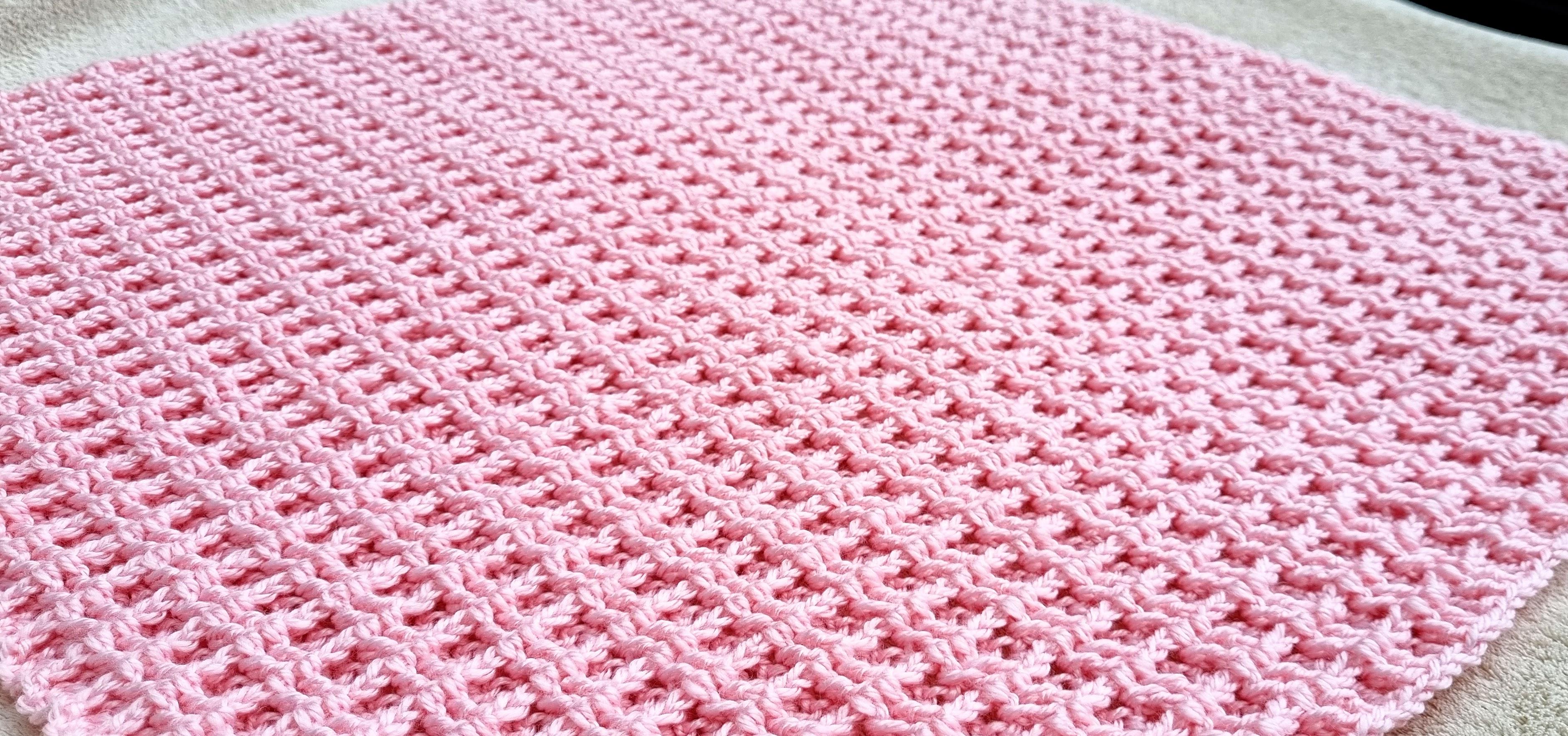 couverture bébé rose double gaufre