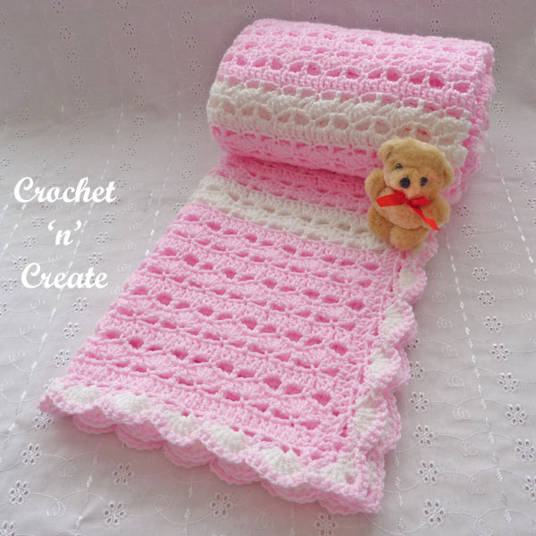 pink lacy baby blanket