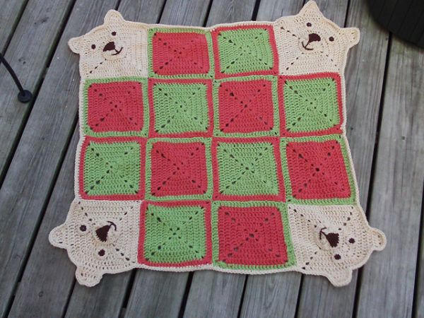 teddy crochet baby blanket