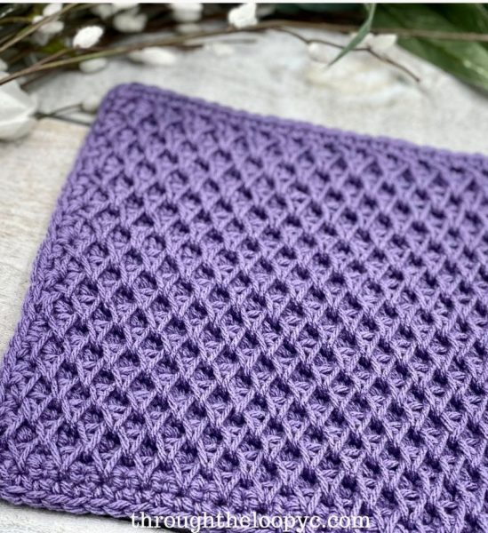 purple crochet cloth
